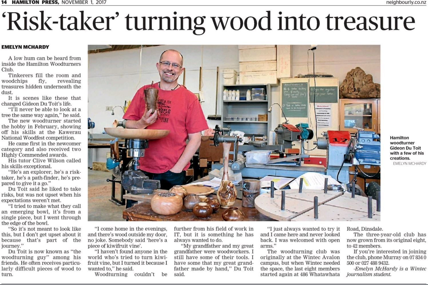 Article On Stuff Co Nz Journey Woodturning