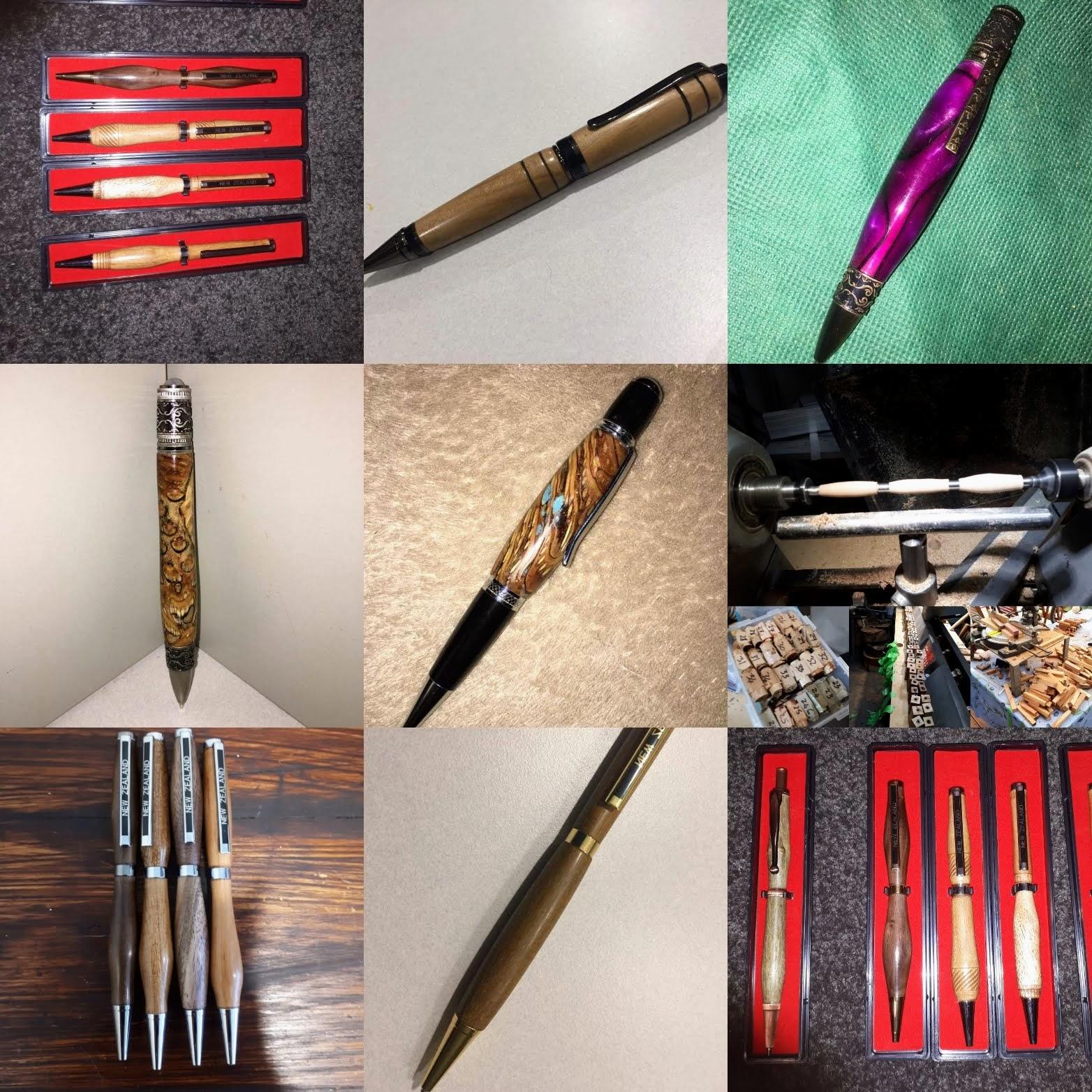 Handturned wooden pens