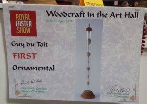 1st Place Ornamental Wood turning