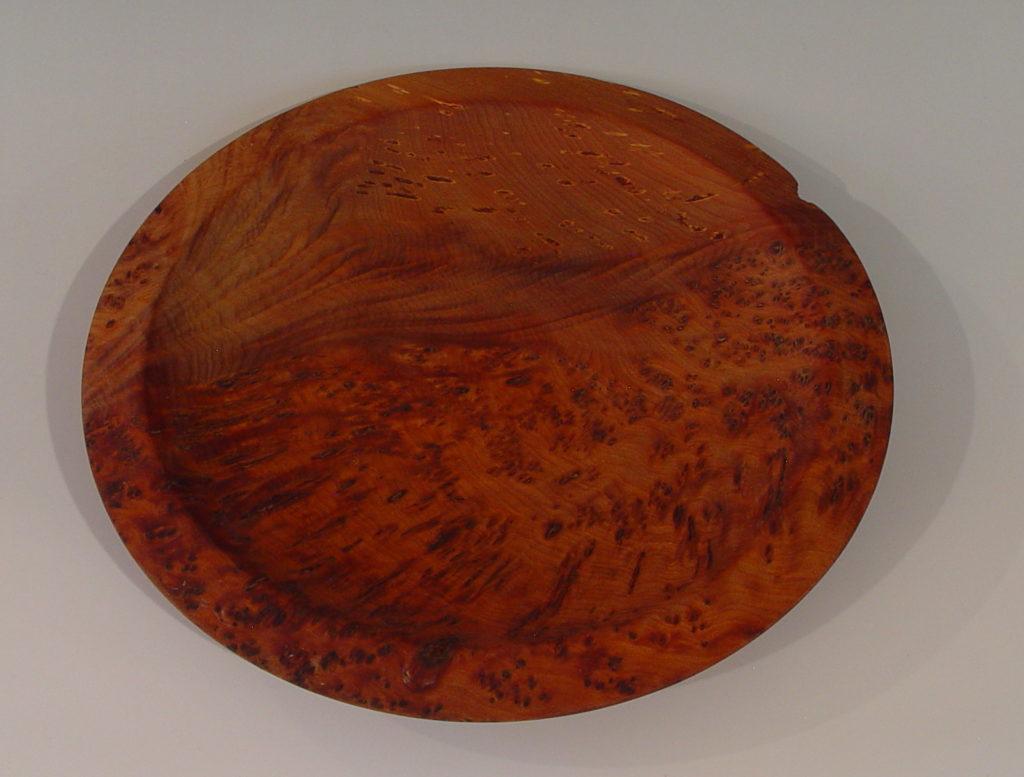 Totara Birdseye burl plate