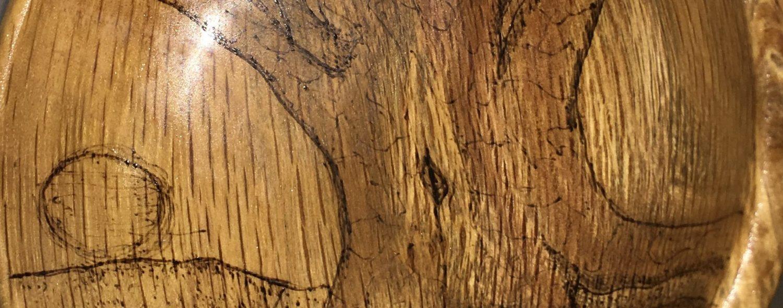 Wooden Art - Pyrography on Oak bowl