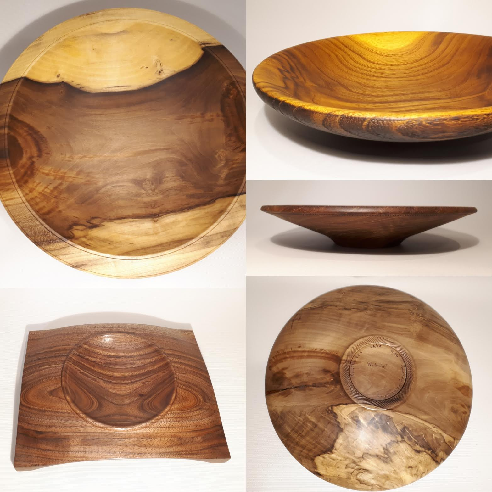 Buy wood turned plates or platters