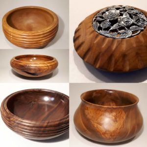 Hand crafted and woodturned bowls and pots
