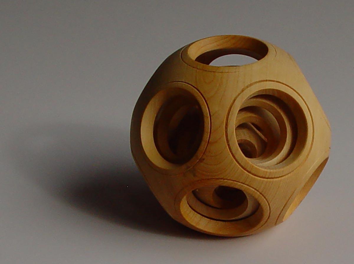 French Box Wood Captive Ball
