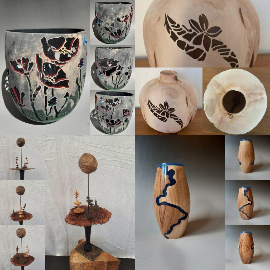 Wood turned art gallery